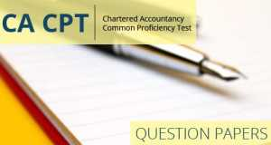 CA CPT Dec 2016 Question Paper and Answer Key
