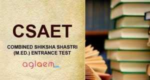 CSAET Combined Shiksha Shastri Test