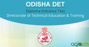 Odisha DET 2015 - Diploma Entrance Test