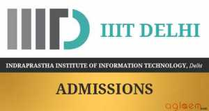 IIIT Delhi B.Tech Admission 2017