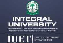Integral University Entrance Test