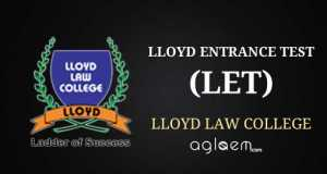Lloyd entrance test LET 2014