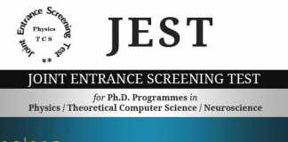 JEST Joint Entrance Screening Test