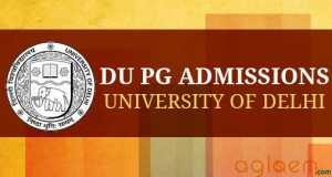 DU PG Admission 2015