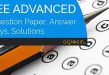 JEE Advanced Qs paper Answer Keys Solutions