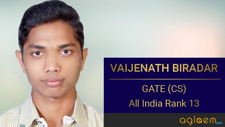 Vaijenath Biradar GATE Topper Interview Aglasem