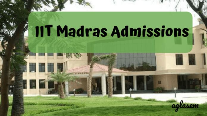 IIT Madras Admissions