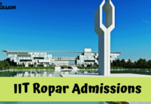 IIT Ropar Admissions