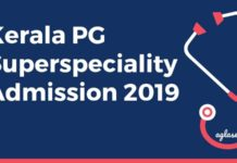 Kerala PG Superspeciality Admission 2019 Aglasem