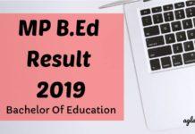 MP B.Ed Result 2019 Aglasem