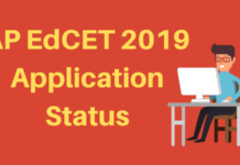 AP EdCET 2019 Application Status