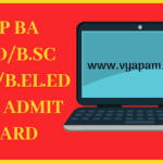 BA B.Ed/B.Sc B.Ed/B.El.Ed 2019 Admit Card