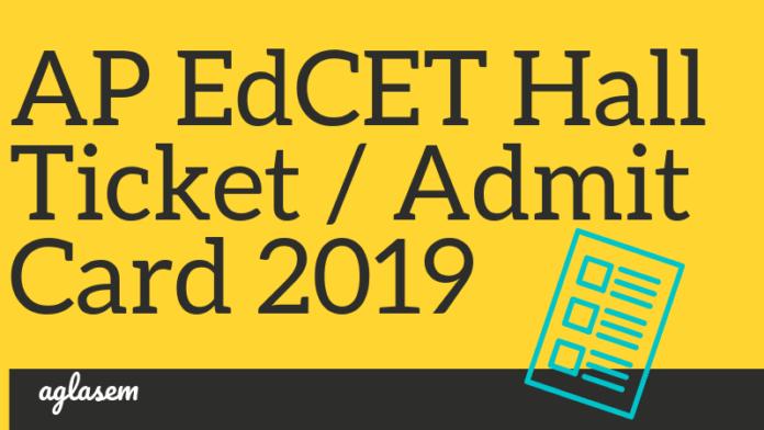 AP EDcet 2019 Admit Card