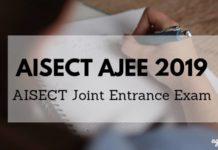 AISECT AJEE 2019 Aglasem