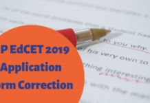 AP EdCET 2019 Application Form Correction