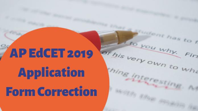 AP EdCET 2019 Application Form Correction