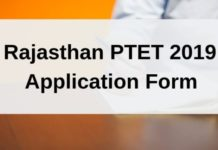 Rajasthan PTET 2019 Application Form
