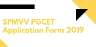 SPMVV PGCET Application Form 2019 Aglasem