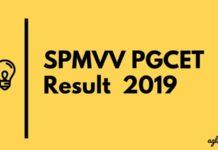 SPMVV PGCET Result 2019 Aglasem