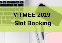 VITMEE 2019 Slot Booking