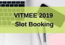 VITMEE 2019 Slot Booking