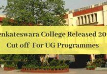 Sri Venkateswara College Cut off Released