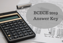 BCECE 2019 Answer Key