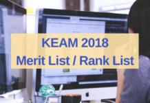 KEAM 2018 Merit List