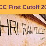 SRCC First Cutoff 2018