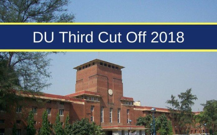 DU Third Cut Off 2018: Live Updates – Delhi University 3rd ...