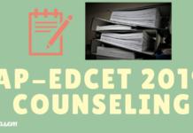 AP-EdCET 2019 Counseling