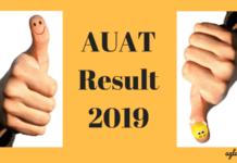AUAT Result 2019