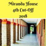 Miranda House 4th Cut-Off 2018