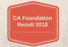 CA Foundation Result 2018