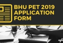 BHU PET 2019 Application Form