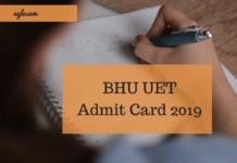BHU UET Admit Card 2019