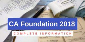 CA Foundation 2018
