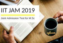 IIT JAM 2019