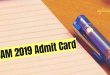 JAM 2019 Admit Card