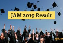 JAM 2019 Result