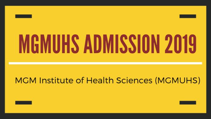 MGMUHS ADMISSION 2019