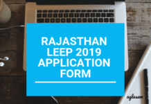 Rajasthan LEEP 2019 Application Form