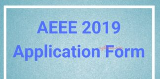 AEEE 2019 Application Form