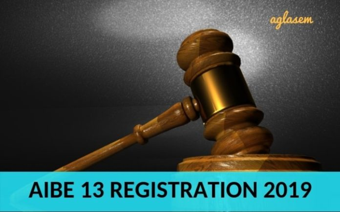 AIBE 13 Registration 2019