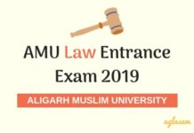 AMU Law Entrance Exam 2019