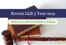 Kerala LLB 5 Year 2019