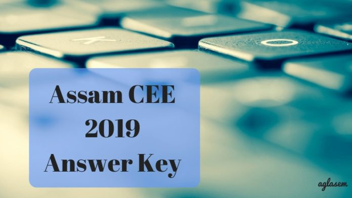 Assam CEE 2019 Answer Key