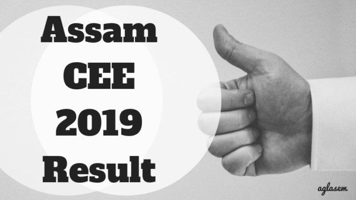 Assam CEE 2019 Result