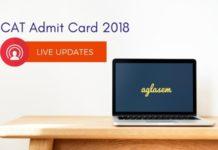 CAT Admit Card 2018 Live Updates