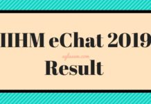 IIHM eChat 2019 Result